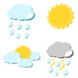 Weather icon illustration Royalty Free Stock Photo