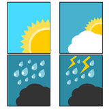 Weather icon illustration Royalty Free Stock Photography
