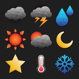 Weather icon in low polygon style Stock Photo