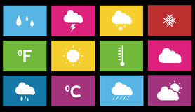 Weather icon. Metro style weather icon set Royalty Free Stock Photos