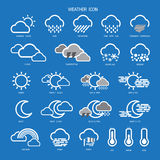 Weather Icon Outline Set Collection.Vector illustration. Royalty Free Stock Photo