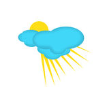 Weather Icon of Partly Clouded Day Royalty Free Stock Image