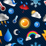 Weather icon pattern background Royalty Free Stock Photos