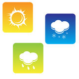 Weather icon set Royalty Free Stock Photos