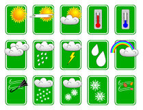 Weather Icon Set. Vector illustration weather icons for use with forecasts vector illustration