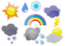Weather-icon-set Stock Photos
