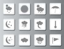 Weather icon set 2 Stock Image