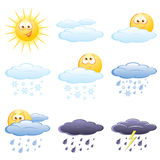 Weather icon set Royalty Free Stock Images