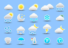 Weather icon set. Illustration image Stock Photo