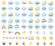 Weather Icon Set. Meteorology Icons Set; Vector Illustration Stock Photos