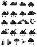 Weather icon set. Vector EPS 8 Royalty Free Stock Photos