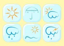 Weather icon set Royalty Free Stock Photo