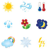 Weather icon set. Vector illustrated Weather icon set Stock Photos