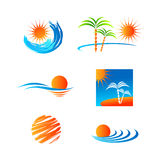 Weather icon set. Set of vector templates with weather icons Royalty Free Stock Photo