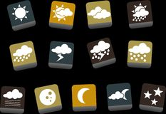 Weather Icon Set Royalty Free Stock Image