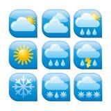 Weather icon set. Art illustration of the weather icon set Stock Images