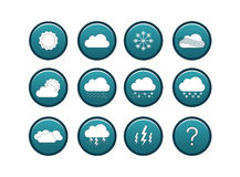 Weather icon set Royalty Free Stock Image