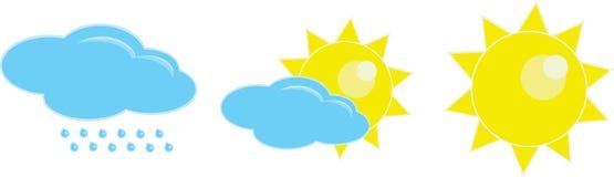 Weather icon. Set cartoon illustration Royalty Free Stock Image