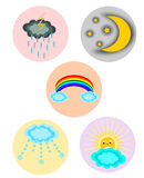 Weather icon set. Collection Isolated Royalty Free Stock Photo