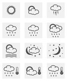 Weather icon set. Weather icon concept in two colors Royalty Free Stock Photos