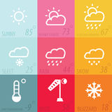 Weather icon set. With definition,modern illustraion Stock Photo