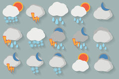 Weather icon set. EPS10 vector illustration Royalty Free Stock Photo