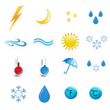 Weather icon set expirience.  Royalty Free Stock Photo