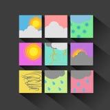 Weather Icon set flat design Stock Image