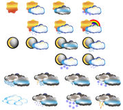 Weather icon set forecast Royalty Free Stock Photography