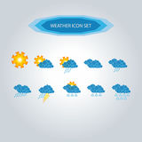 Weather Icon Set 1 Royalty Free Stock Image