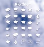 Weather icon set .Illustration eps10 Royalty Free Stock Photo