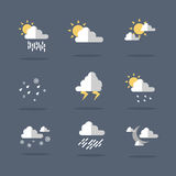 Weather icon set illustration vector. Collection stock Stock Photography