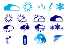 Weather icon set. For mobile apps Stock Photos