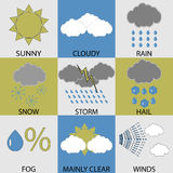Weather icon set modern Stock Images