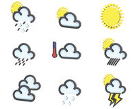 Weather icon set no 1 Royalty Free Stock Photos