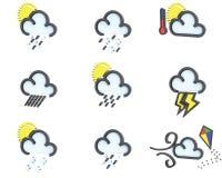 Weather icon set no 2 Royalty Free Stock Image