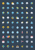 Weather icon set Royalty Free Stock Photography