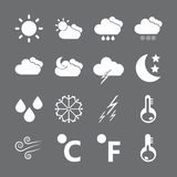Weather icon set, vector eps10 Royalty Free Stock Images