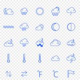 Weather Icon set. 25 Vector Icons Pack stock illustration