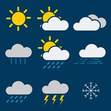 Weather Icon set. Vector Illustration Stock Images