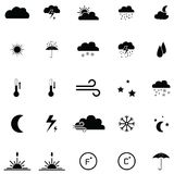 Weather icon set. The weather of icon set Royalty Free Stock Photography