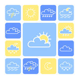 Weather icon set Stock Images