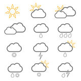 Weather icon with sun illustration Royalty Free Stock Photo