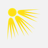 Weather Icon of the Sun Stock Images