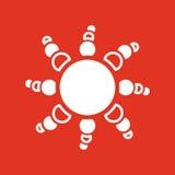The weather icon. Sunrise and sunshine, weather, sun symbol. UI. Web. Logo. Sign. Flat design. App. Stock Stock Image