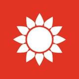 The weather icon. Sunrise and sunshine, weather, sun symbol. UI. Web. Logo. Sign. Flat design. App. Stock Royalty Free Stock Images