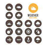 Weather icon.Vector illustration. Royalty Free Stock Photography