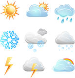 Weather icon vector set Royalty Free Stock Photos