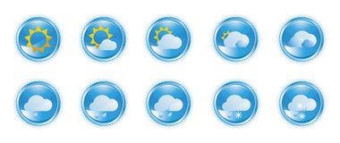 Weather icons 02 royalty free illustration