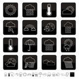 Weather icons Royalty Free Stock Photography